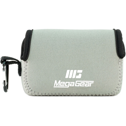 MegaGear Ultra-Light Neoprene Camera Case with Carabiner for Canon PowerShot G9 X (Gray)