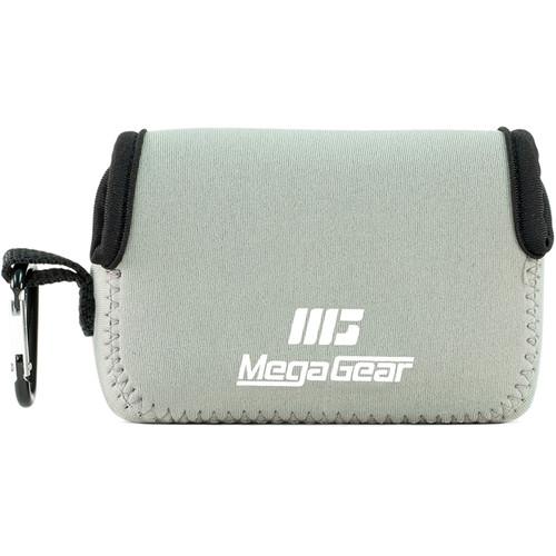 MegaGear Ultralight Neoprene Camera Case with Carabiner for Canon PowerShot G9 X (Gray)