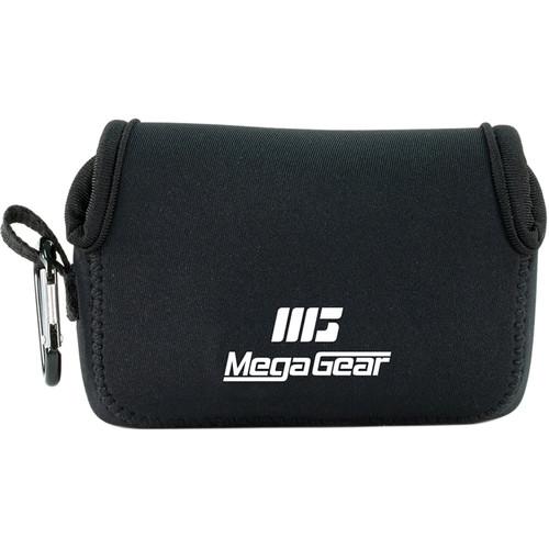 MegaGear Ultralight Neoprene Camera Case with Carabiner for Canon PowerShot G9 X (Black)