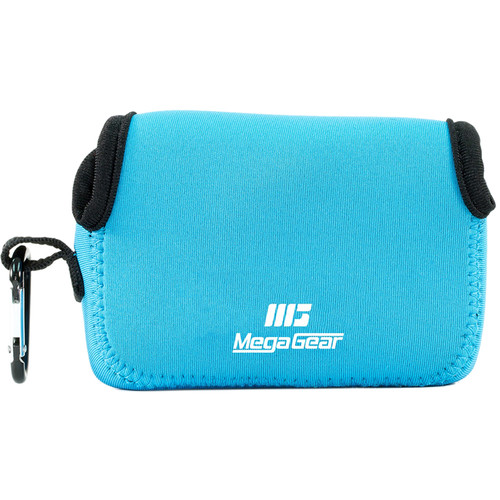 MegaGear Ultralight Neoprene Camera Case with Carabiner for Canon PowerShot G9 X (Blue)