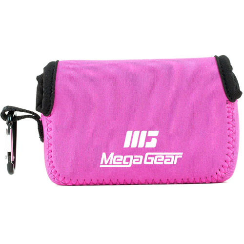 MegaGear Ultralight Neoprene Camera Case with Carabiner for Canon PowerShot G9 X (Hot Pink)