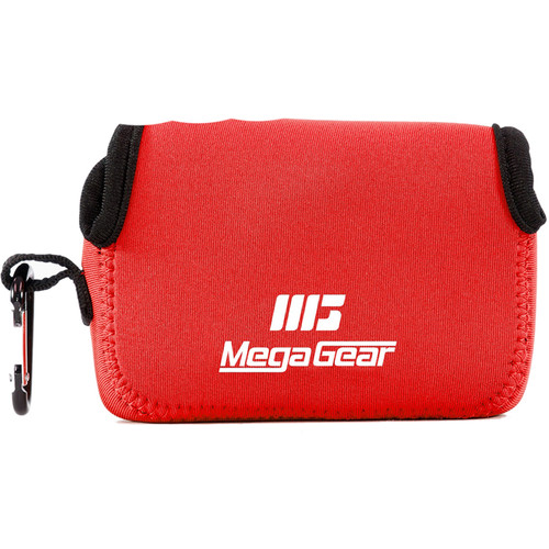 MegaGear Ultra-Light Neoprene Camera Case with Carabiner for Canon PowerShot G9 X (Red)
