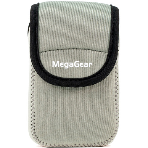MegaGear Ultra-light Neoprene Camera Case with Carabiner for Panasonic ZS60 Camera (Gray)