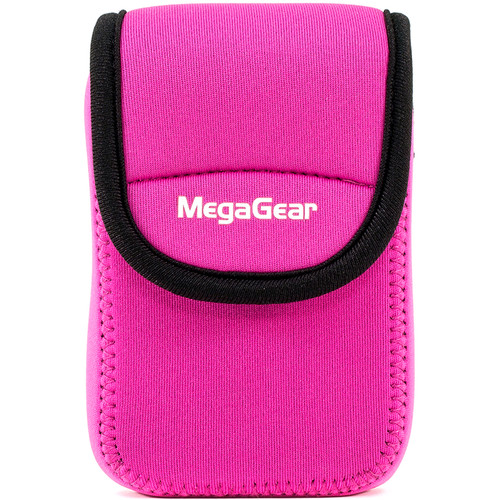 MegaGear Ultra Light Neoprene Camera Case with Carabiner for Panasonic ZS60 Camera (Hot Pink)