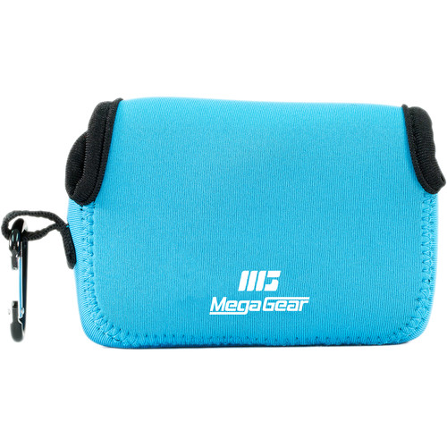 MegaGear Ultra-light Neoprene Camera Case with Carabiner for Fujifilm X70 Camera (Blue)