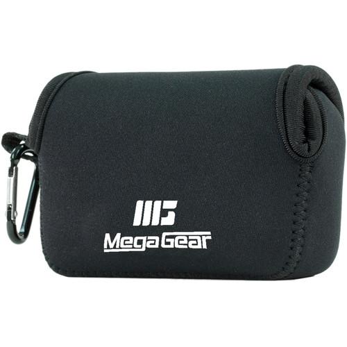 MegaGear Ultra-light Neoprene Camera Case with Carabiner for Panasonic DMC-ZS100 Camera (Black)