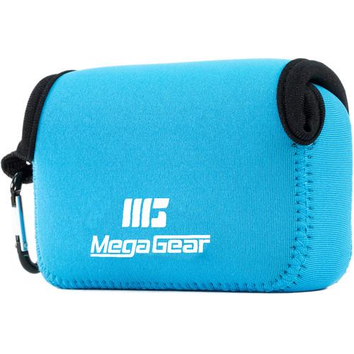MegaGear Ultra-light Neoprene Camera Case with Carabiner for Panasonic DMC-ZS100 Camera (Blue)