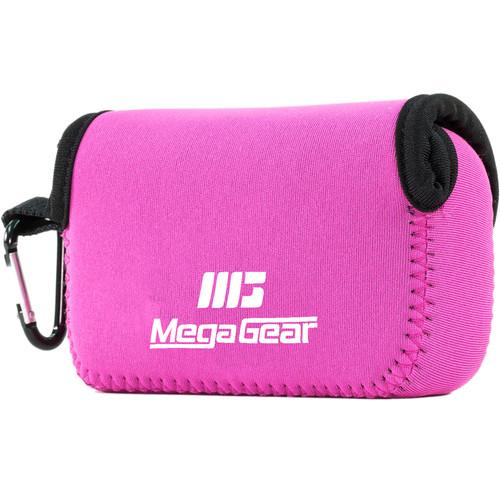 MegaGear Ultralight Neoprene Camera Case for Panasonic DMC-ZS100 (Hot Pink)