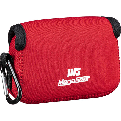 MegaGear Ultra-light Neoprene Camera Case with Carabiner for Nikon COOLPIX B500 Camera (Red)