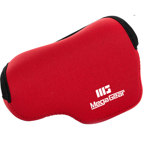 MegaGear Ultra-light Neoprene Camera Case for Panasonic LUMIX DMC-GX85K with 12 to 32mm Lens (Red)