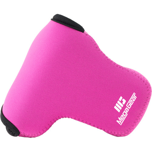 MegaGear Ultra-Light Neoprene Camera Case for LUMIX DMC-GX85K with 14-140mm (Hot Pink)