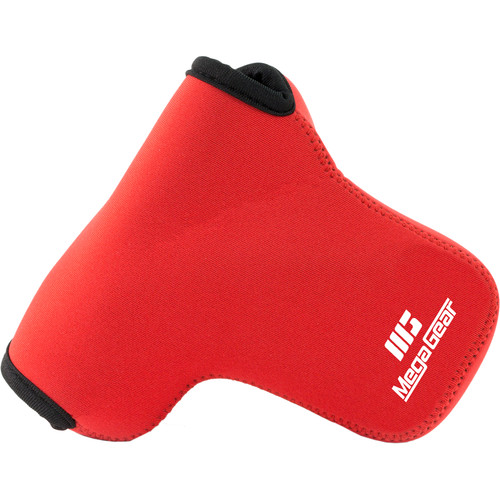 MegaGear Ultra-Light Neoprene Camera Case for Lumix DMC-GX85K with 14-140mm (Red)