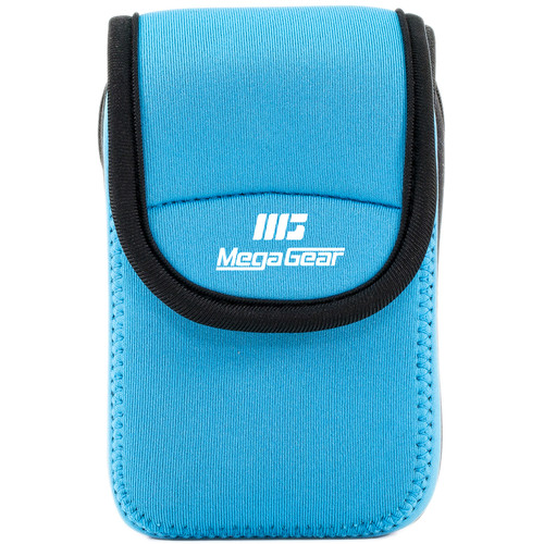 MegaGear Ultra-light Neoprene Camera Case with Carabiner for Canon PowerShot ELPH 190 IS, ELPH 170 IS, and ELPH 160 Cameras (Blue)