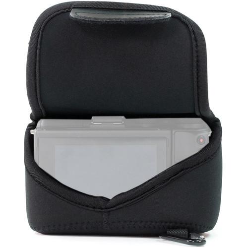 MegaGear Ultralight Neoprene Camera Case with Carabiner for Sony Cyber-shot DSC-RX10 III (Black)
