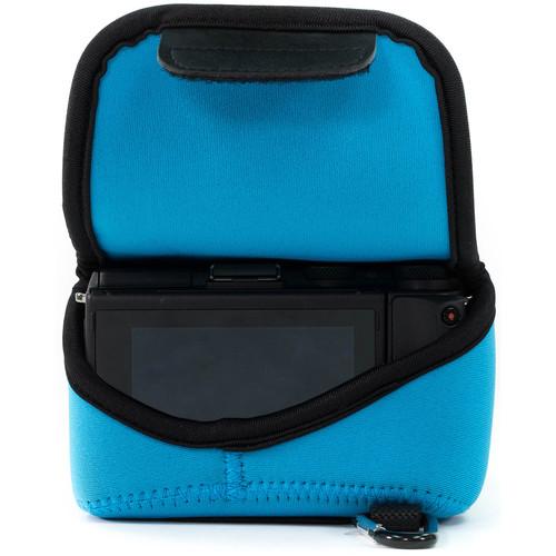 MegaGear Ultra-Light Neoprene Camera Case with Carabiner for Sony Cyber-shot DSC-RX10 III (Blue)