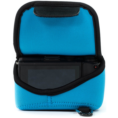 MegaGear Ultra-Light Neoprene Camera Case with Carabiner for Sony Cyber-shot DSC-RX10 III (Blue)