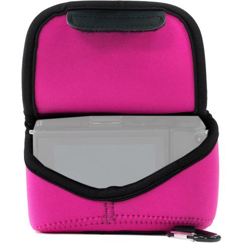 MegaGear Ultra-Light Neoprene Camera Case with Carabiner for Sony Cyber-shot DSC-RX10 III (Hot Pink)