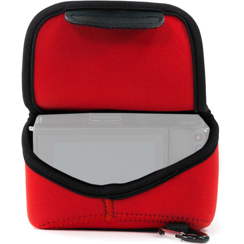 MegaGear Ultra-Light Neoprene Camera Case with Carabiner for Sony Cyber-shot DSC-RX10 III (Red)