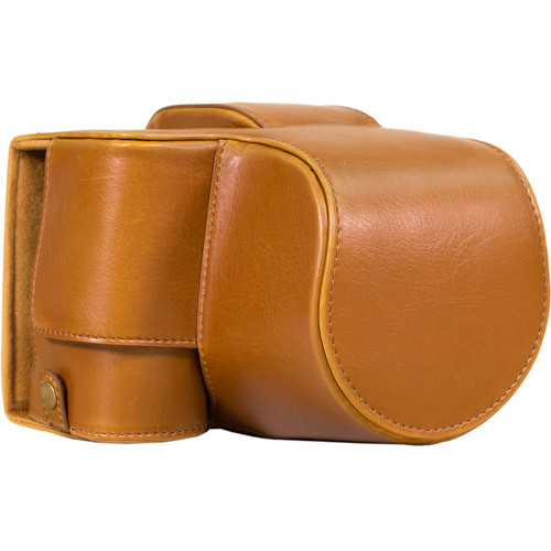 MegaGear Ever Ready Leather Camera Case for Sony Cyber-shot DSC-RX10 III (Light Brown)