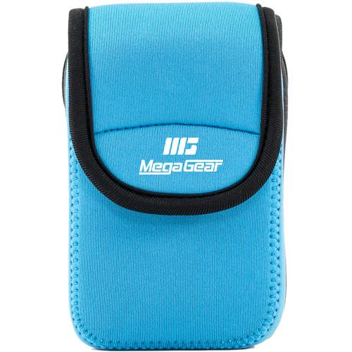 MegaGear Ultra-light Neoprene Camera Case with Carabiner for Sony Cyber-Shot DSC-W800 Camera (Blue)