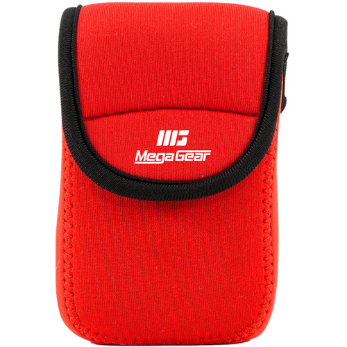MegaGear Ultra-light Neoprene Camera Case with Carabiner for Sony Cyber-Shot DSC-W800 Camera (Red)