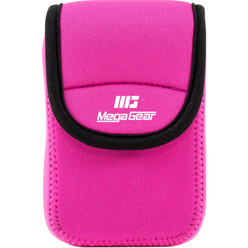 MegaGear Ultra-light Neoprene Camera Case with Carabiner for Nikon Coolpix S7000 and L32 Cameras (Hot-Pink)