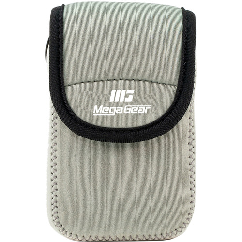 MegaGear Ultra-light Neoprene Camera Case with Carabiner for Samsung WB35F Camera (Gray)