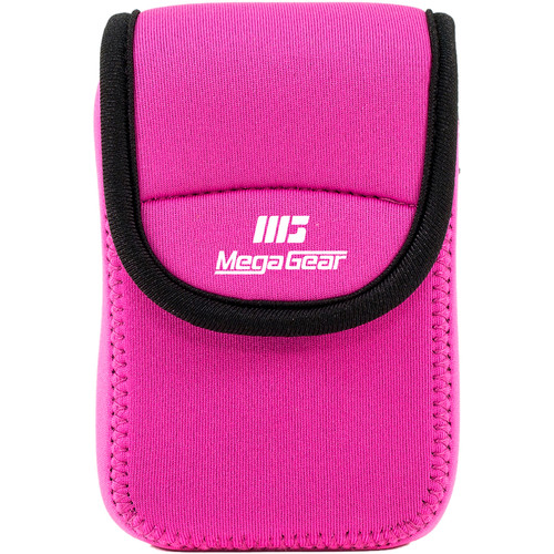 MegaGear Ultra-light Neoprene Camera Case with Carabiner for Samsung WB35F Camera (Hot-Pink)