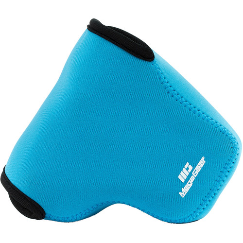 MegaGear Ultra-light Neoprene Camera Case with Carabiner for Nikon Coolpix L340 Camera (Blue)