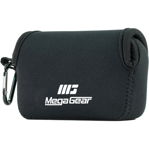 MegaGear Ultra-Light Neoprene Camera Case with Carabiner for Nikon Coolpix S33 (Black)