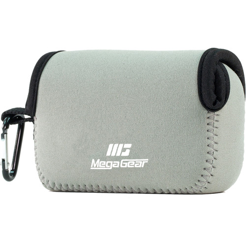 MegaGear Ultra-Light Neoprene Camera Case with Carabiner for Nikon Coolpix S33 (Gray)