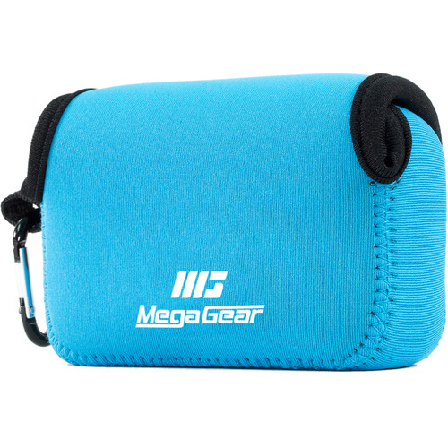 MegaGear Ultralight Neoprene Camera Case with Carabiner for Nikon COOLPIX S33 (Blue)