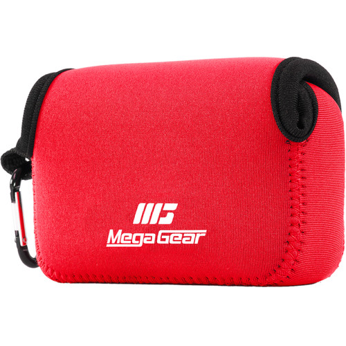 MegaGear Ultra-Light Neoprene Camera Case with Carabiner for Nikon COOLPIX S33 (Red)