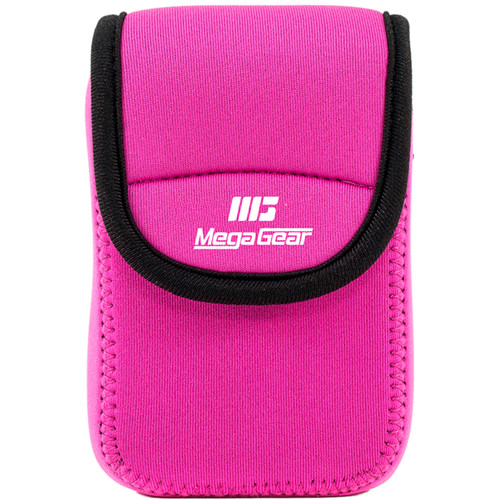 MegaGear Ultra-light Neoprene Camera Case with Carabiner for Olympus Stylus Tough TG-870 and TG-860 Cameras (Hot-Pink)