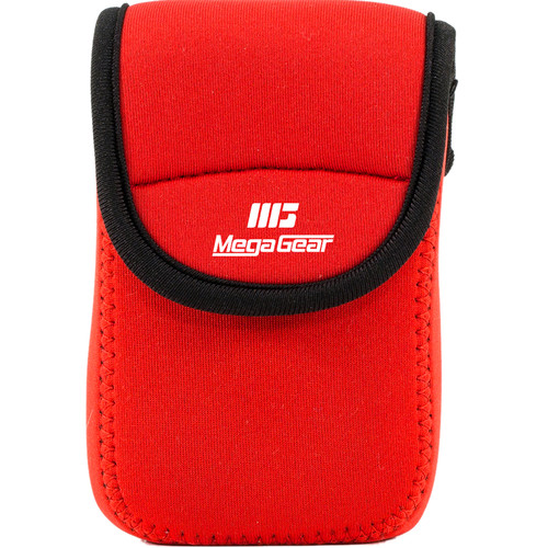 MegaGear Ultra-Light Neoprene Camera Case for Olympus Stylus Tough TG-870 and TG-860 (Red)