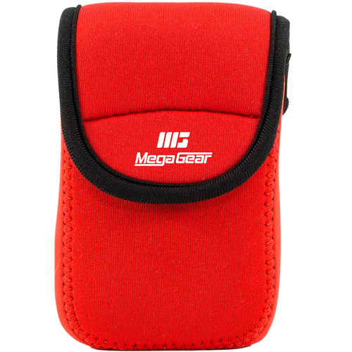 MegaGear Ultra-light Neoprene Camera Case with Carabiner for Kodak PixPro FZ43 and Kodak PixPro FZ41 Cameras (Red)