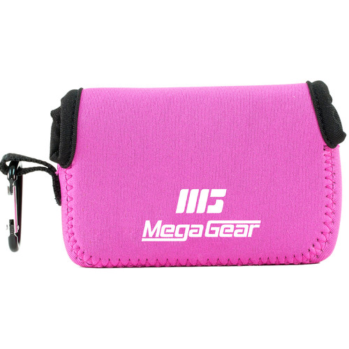 MegaGear Ultra-light Neoprene Camera Case with Carabiner for Fujifilm FinePix XP90 Camera (Hot-Pink)