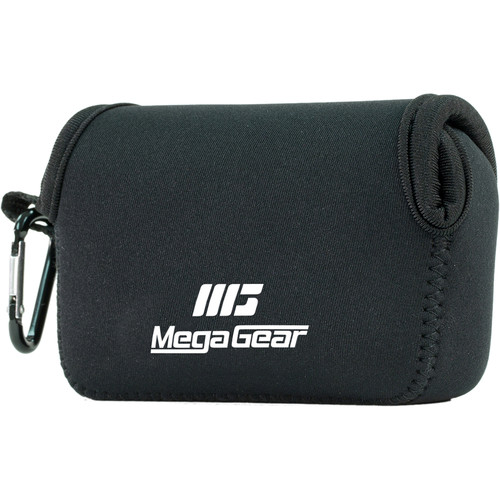 MegaGear Ultra-Light Neoprene Camera Case with Carabiner for Canon PowerShot SX620 HS (Black)