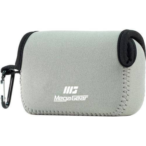 MegaGear Ultralight Neoprene Camera Case with Carabiner for Canon PowerShot SX620 HS (Gray)