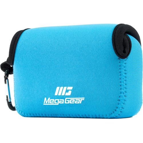 MegaGear Ultra-Light Neoprene Camera Case with Carabiner for Canon PowerShot SX620 HS (Blue)
