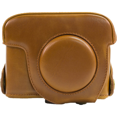 MegaGear Ever Ready Leather Camera Case and Strap for Nikon COOLPIX P7700 or P7800 (Light Brown)