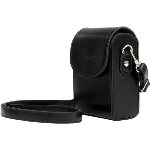 MegaGear Leather Camera Case with Strap for Samsung WB350F (Black)