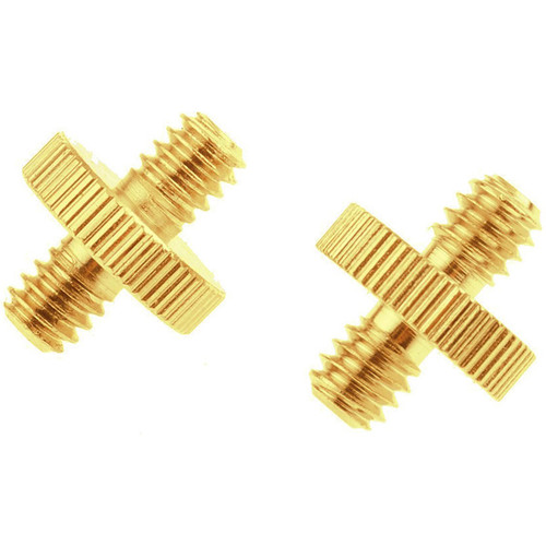 """MegaGear 1/4"""" Male to 1/4"""" Male + 1/4"""" Male to 3/8"""" Male Threaded Screw Adapter (2-Pieces)"""