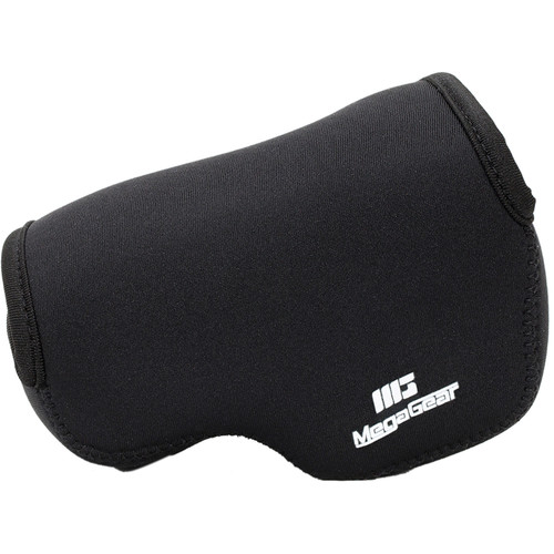 MegaGear Ultra-Light Neoprene Camera Case with Carabiner for Panasonic Lumix DMC-LX100 (Black)