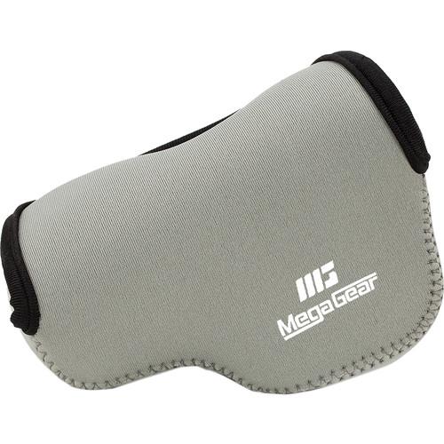 MegaGear Ultra-Light Neoprene Camera Case with Carabiner for Panasonic LUMIX DMC-LX100 (Gray)
