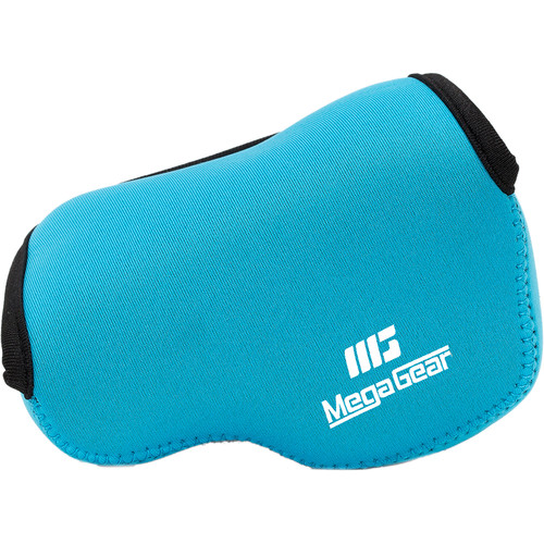 MegaGear Ultra-Light Neoprene Camera Case with Carabiner for Panasonic LUMIX DMC-LX100 (Blue)