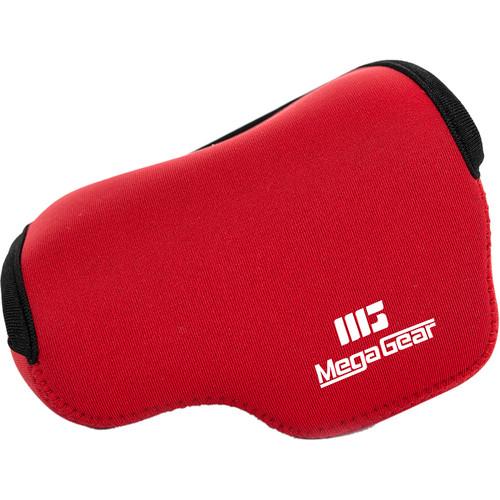 MegaGear Ultralight Neoprene Camera Case with Carabiner for Panasonic LUMIX DMC-LX100 (Red)