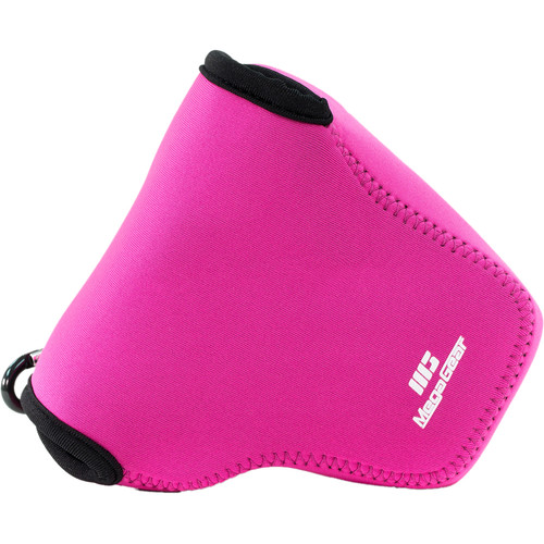 MegaGear Ultra-Light Neoprene Camera Case with Carabiner for Nikon COOLPIX B700 (Hot Pink)