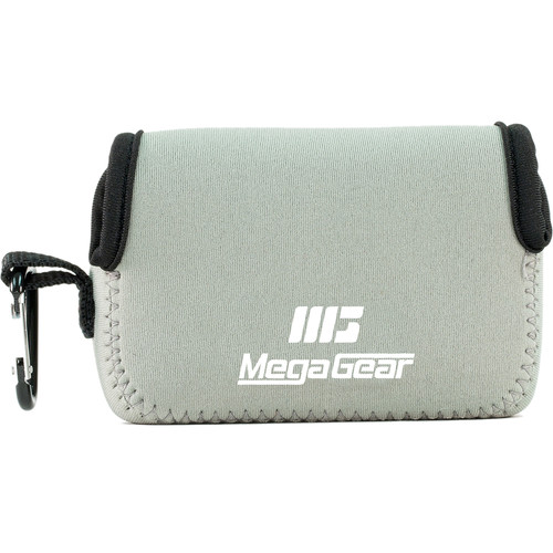 MegaGear Ultra-Light Neoprene Camera Case with Carabiner for Nikon COOLPIX A900 (Gray)