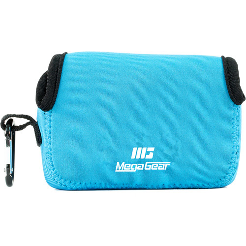 MegaGear Ultra-Light Neoprene Camera Case with Carabiner for Nikon Coolpix A900 (Blue)